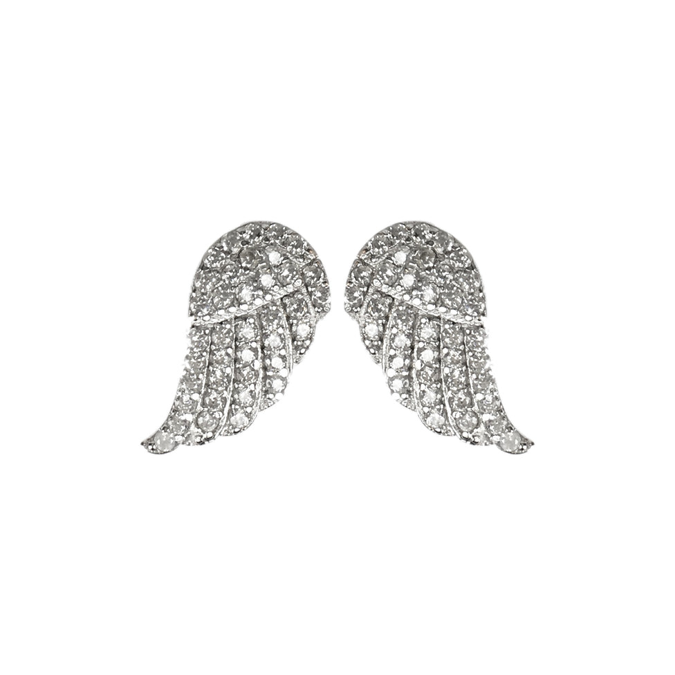 Angel Wing Earrings - www.sparklingjewellery.com