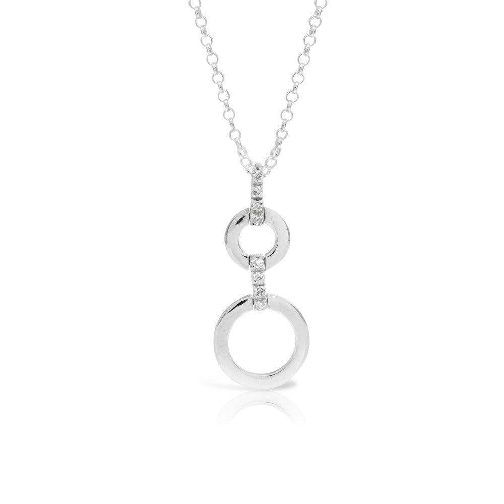 Circle of Life Silver Pendant - www.sparklingjewellery.com