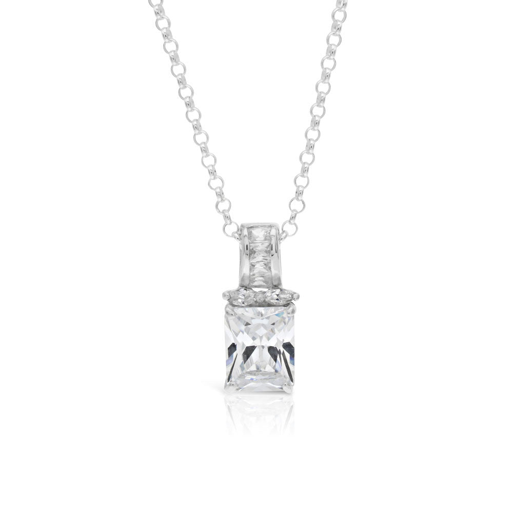 solitaire pendant diamond products i yellow cut h necklace emerald cttw gold