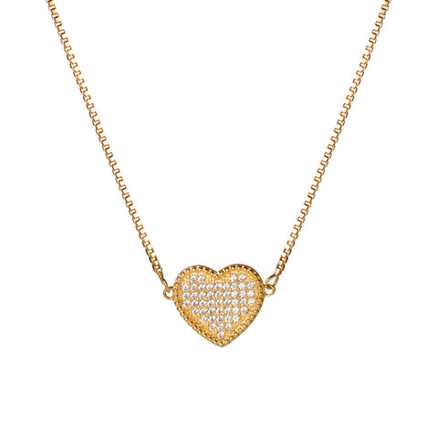 Paved Heart Choker