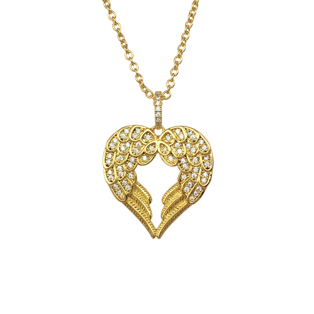 Love Angel Sparkle Necklace - www.sparklingjewellery.com