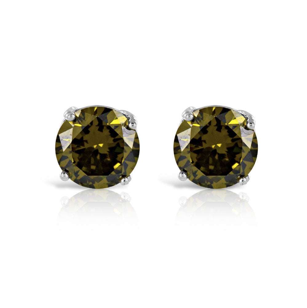 Olive Green 2ct Tourmaline Earrings
