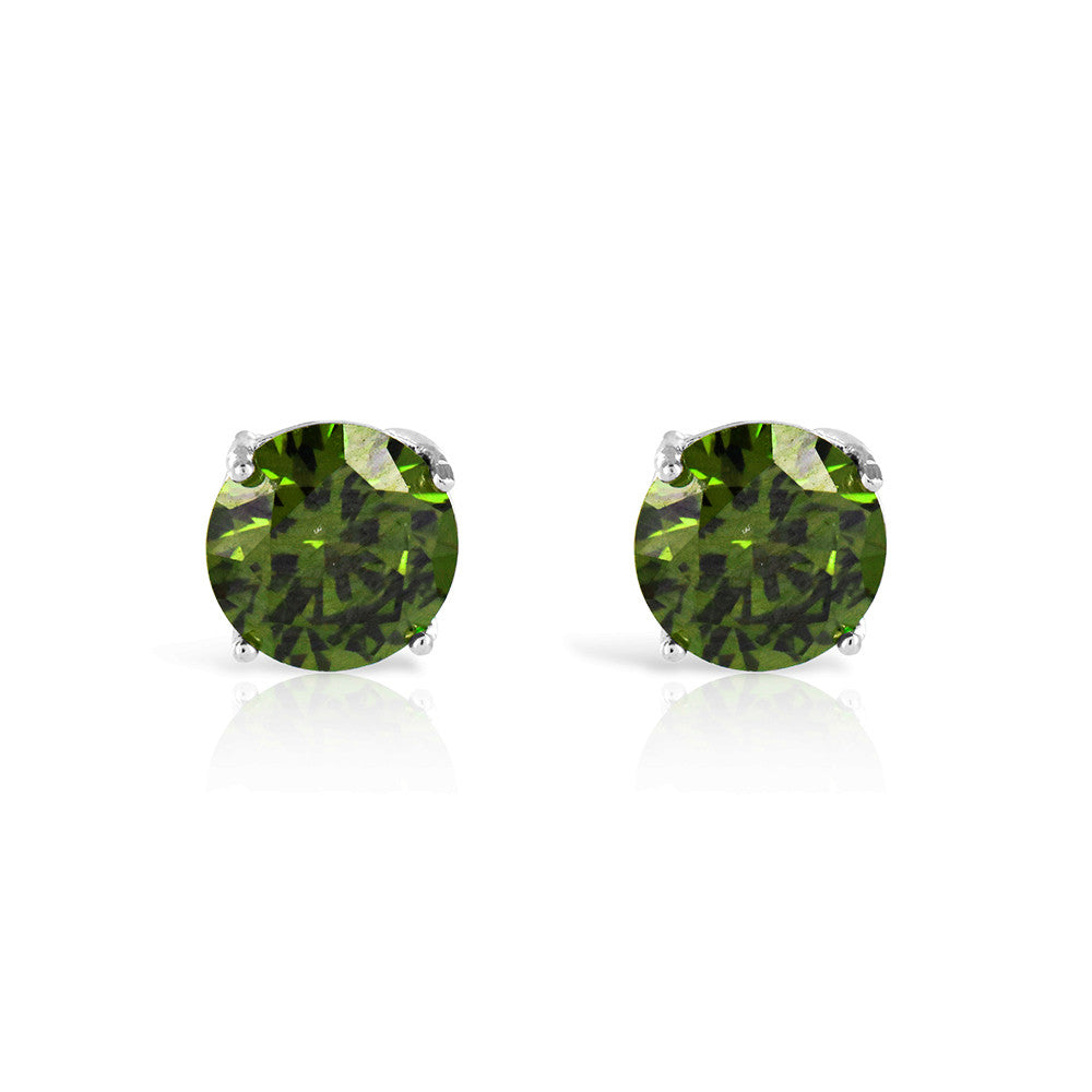 Green Emerald Stud Earrings