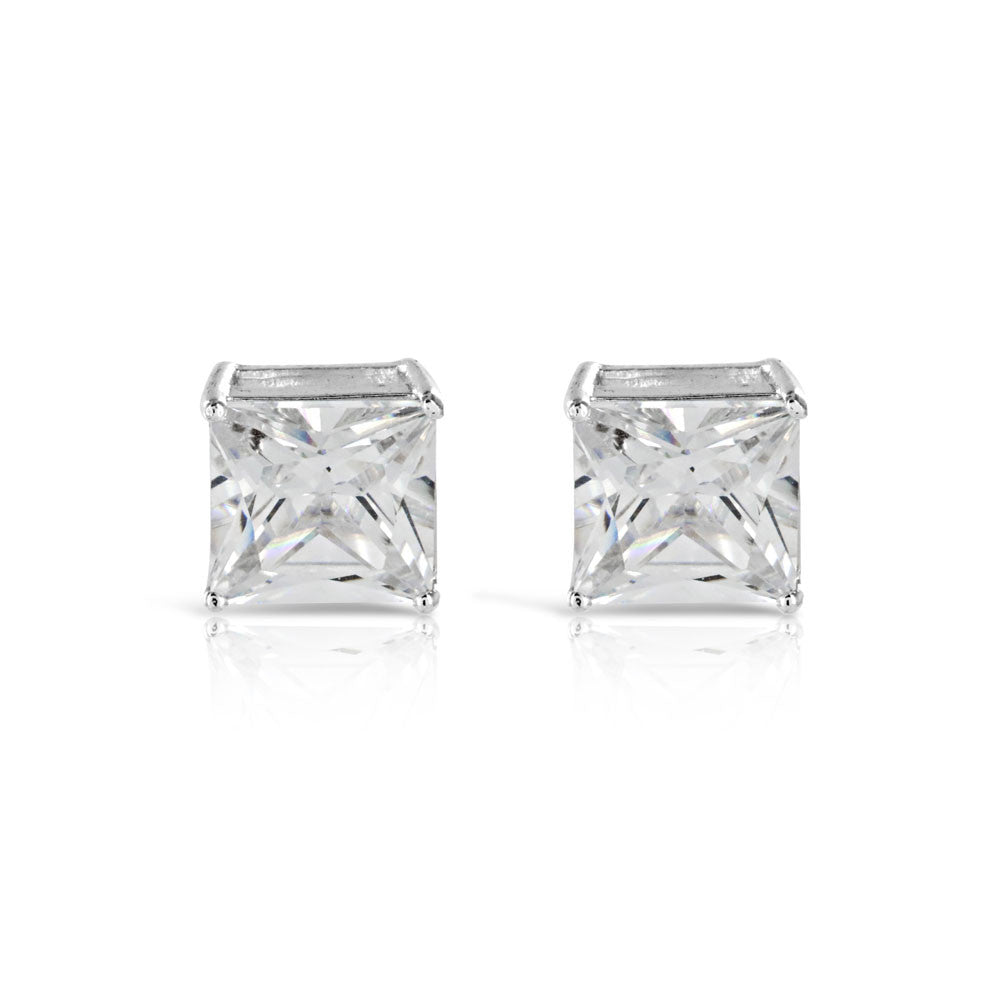 Large Square Cut Square Stud Earrings