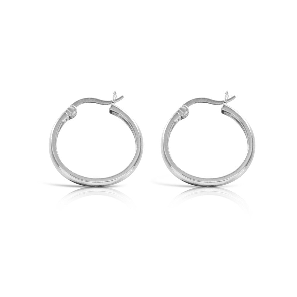 Sterling Silver Creole Silver Hoop Earrings - www.sparklingjewellery.com