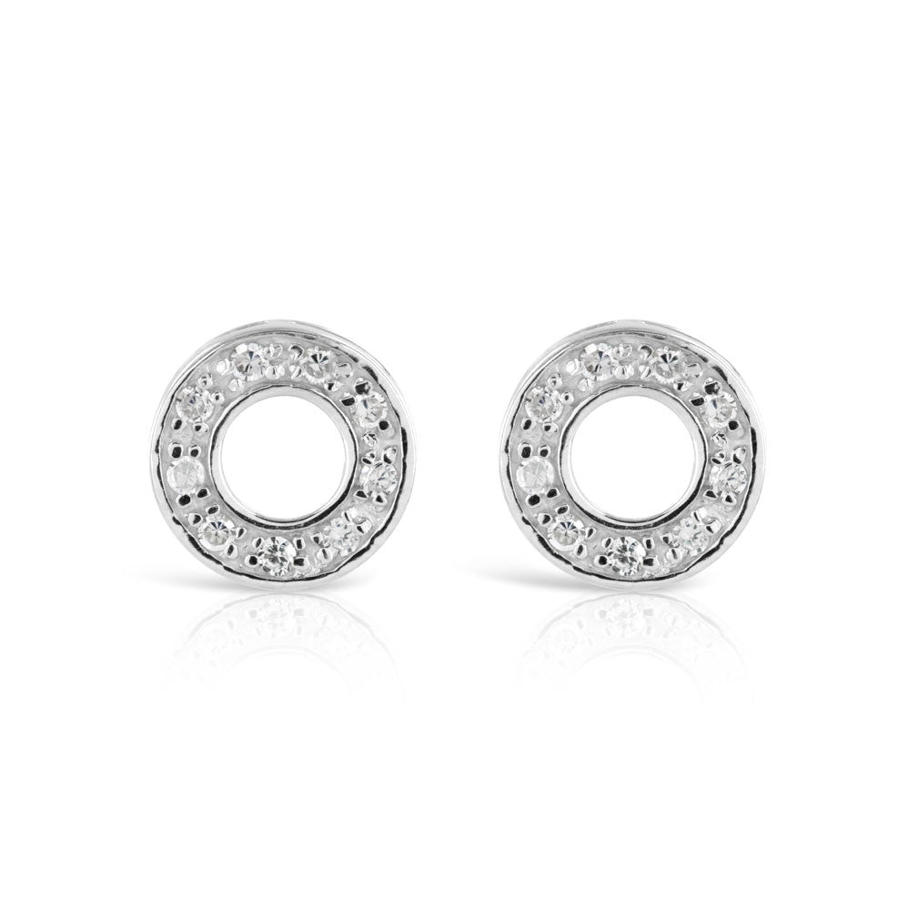 Round Polo Stud Earrings