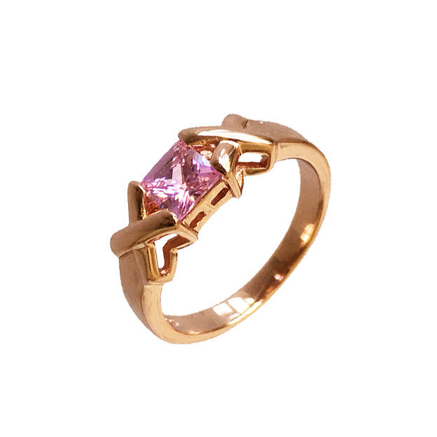 Kiss and Hug Ring Pink - www.sparklingjewellery.com