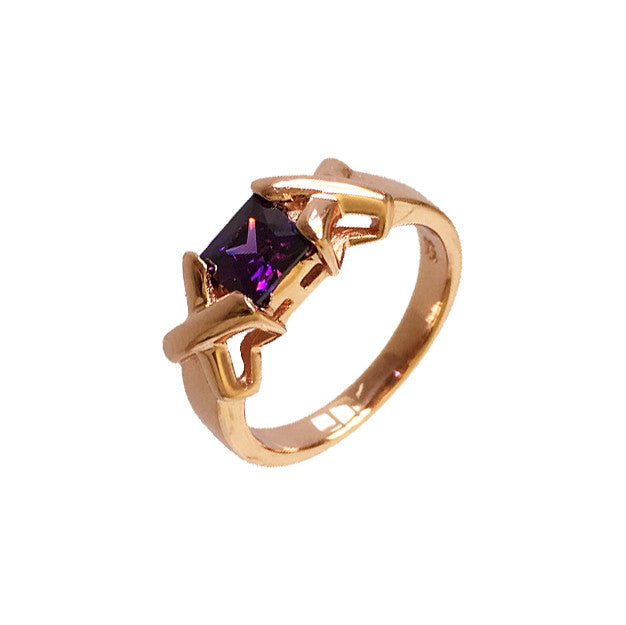 Kiss and Hug Ring Amethyst - www.sparklingjewellery.com