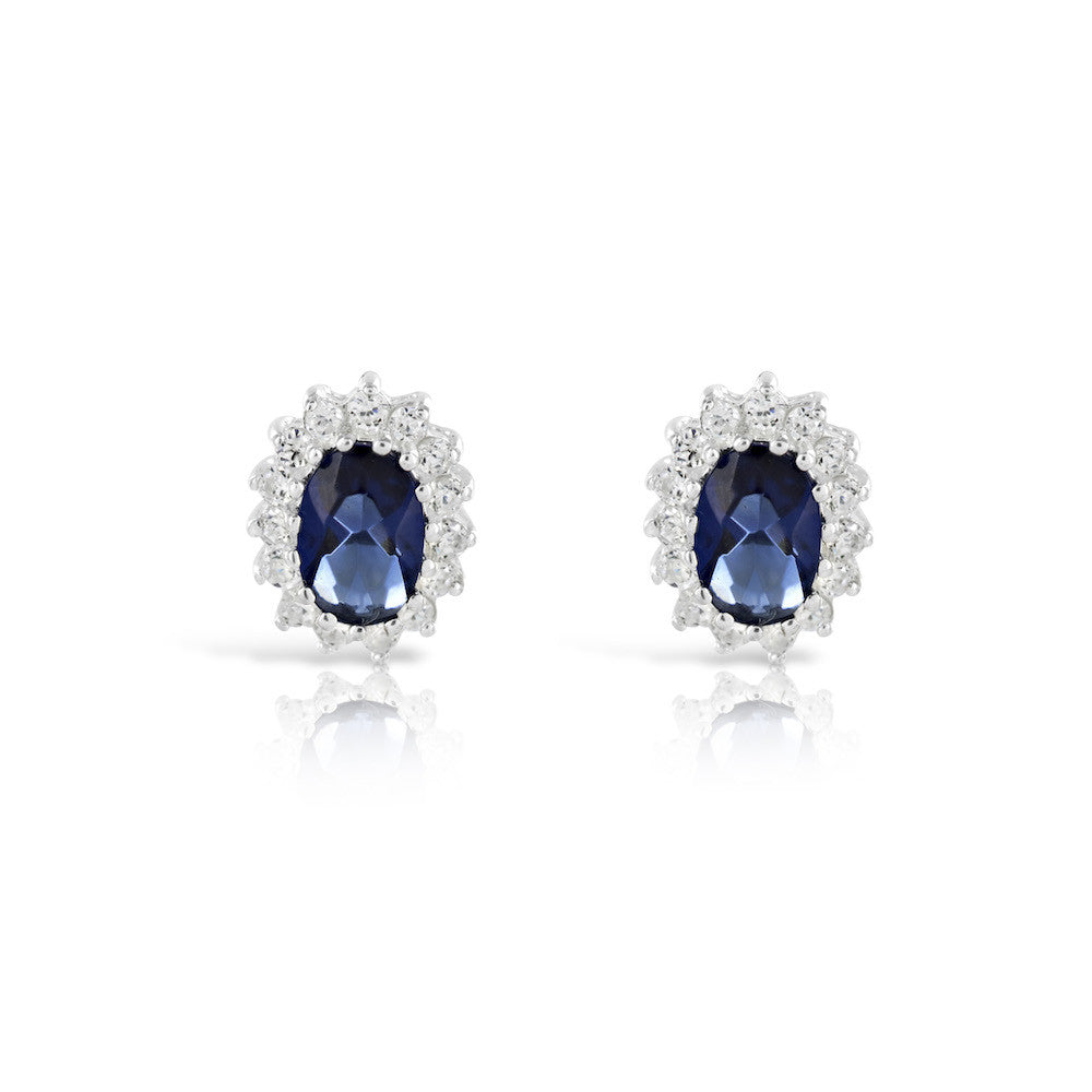 Kate Middleton  Oval Earrings - www.sparklingjewellery.com