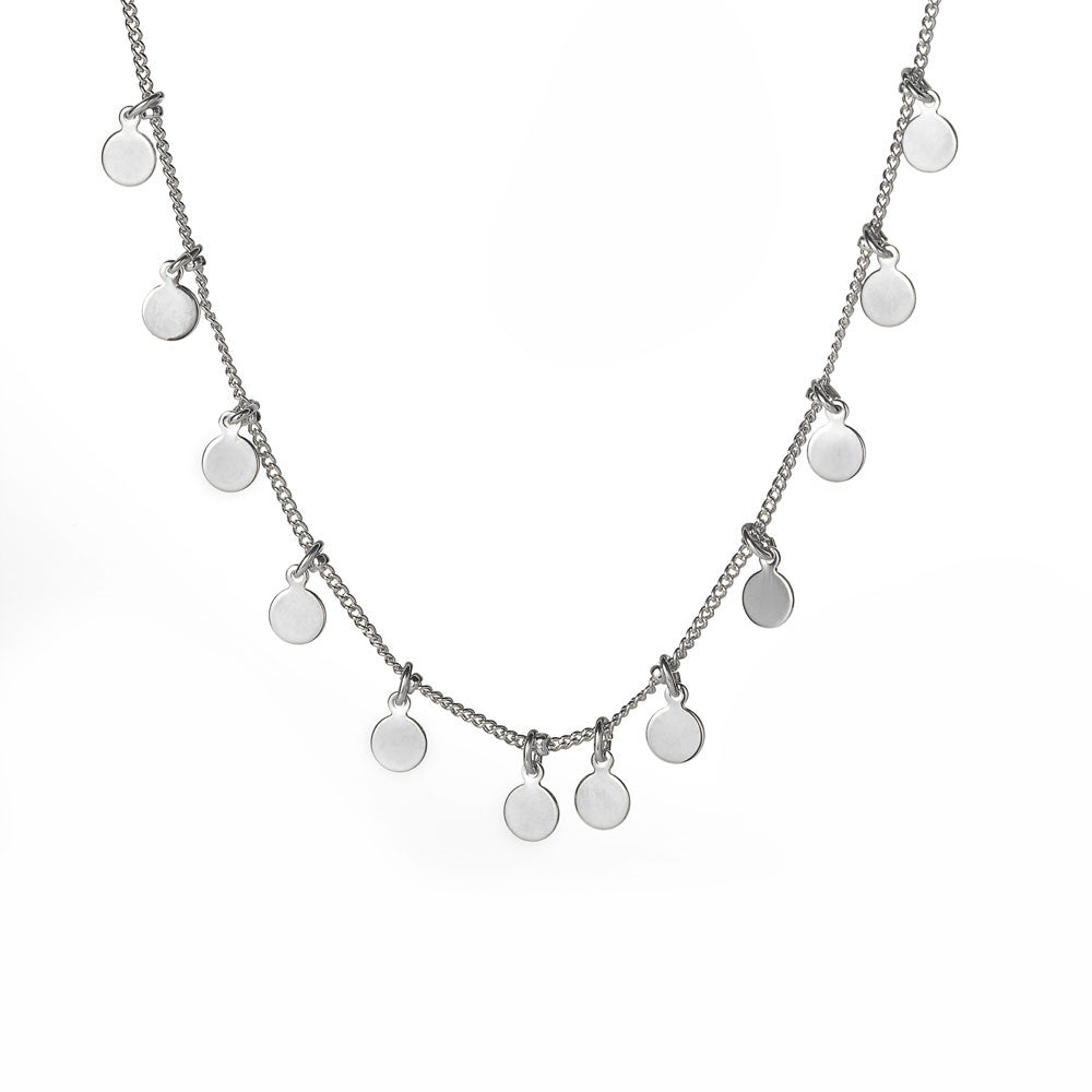 Mirror Disc Necklace - www.sparklingjewellery.com