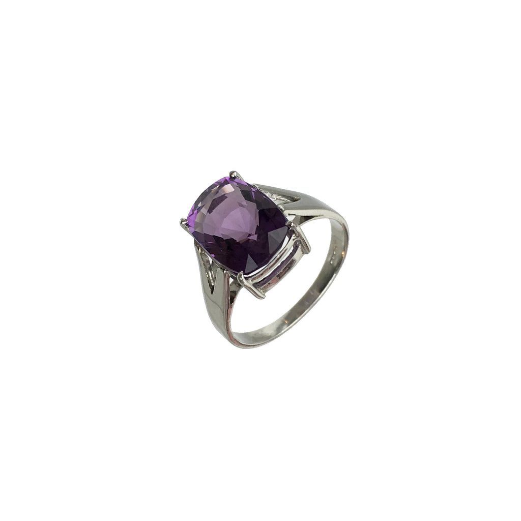 Cushion Cut Amethyst Ring - www.sparklingjewellery.com