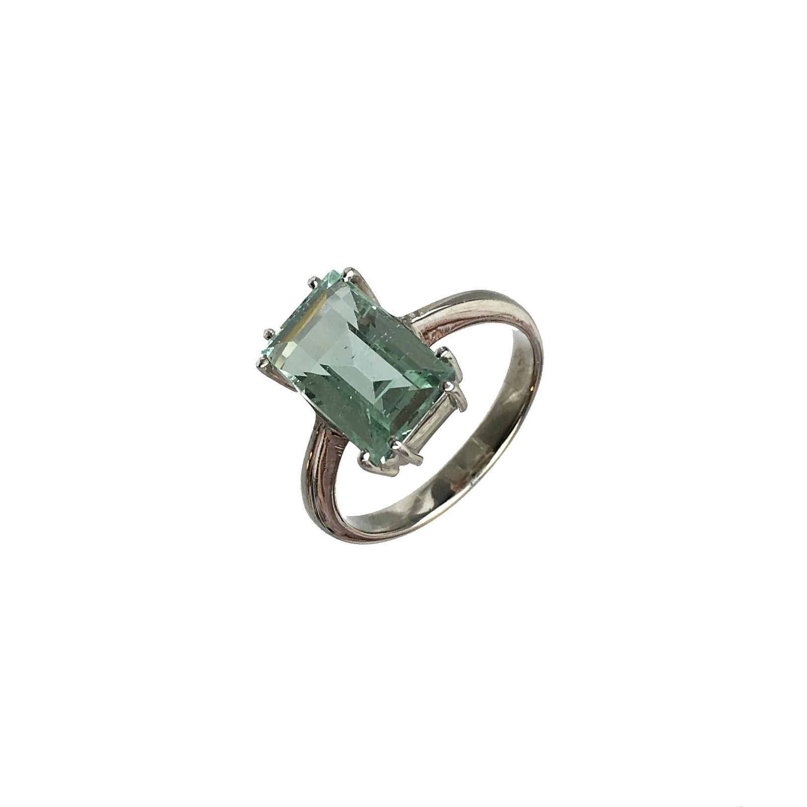ring west beach jewellery palm white gold aquamarine