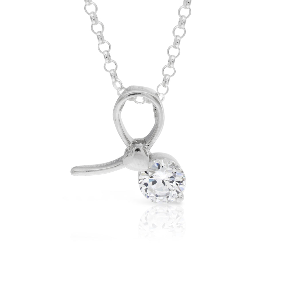 Contemporary Sterling Silver Pendant - www.sparklingjewellery.com