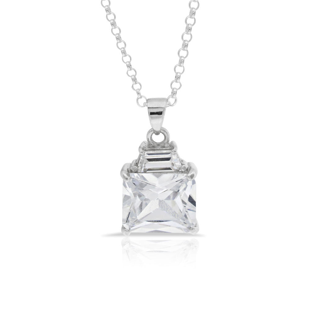 cut gold white solitaire pendant jewelry in regal wg diamond nl princess