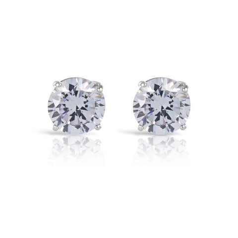 1ct Lilac Silver Stud Earrings - www.sparklingjewellery.com