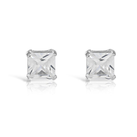 1ct Princess Cut Stud Earrings - www.sparklingjewellery.com