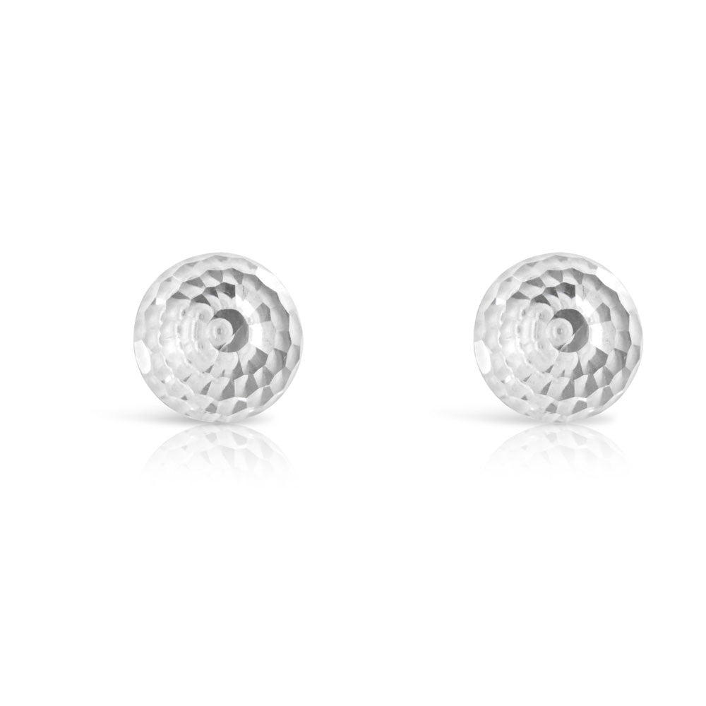 Silver Crystal Ball Earrings
