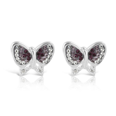 Purple Primrose Hill Butterfly Earrings