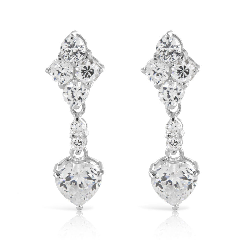 Sterling Silver Vintage Bridal Earrings - www.sparklingjewellery.com