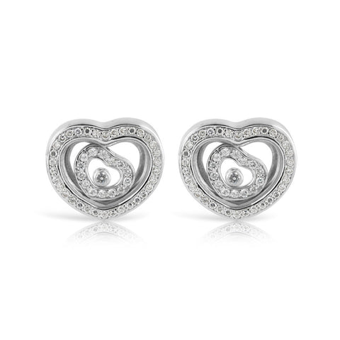 Happy Heart Sterling Silver Memory Earrings - www.sparklingjewellery.com