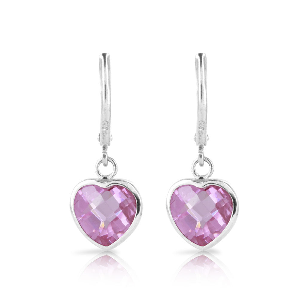 Pink Heart Cushion Earrings