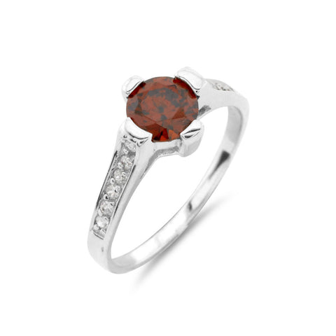 Ruby Style Solitaire Ring