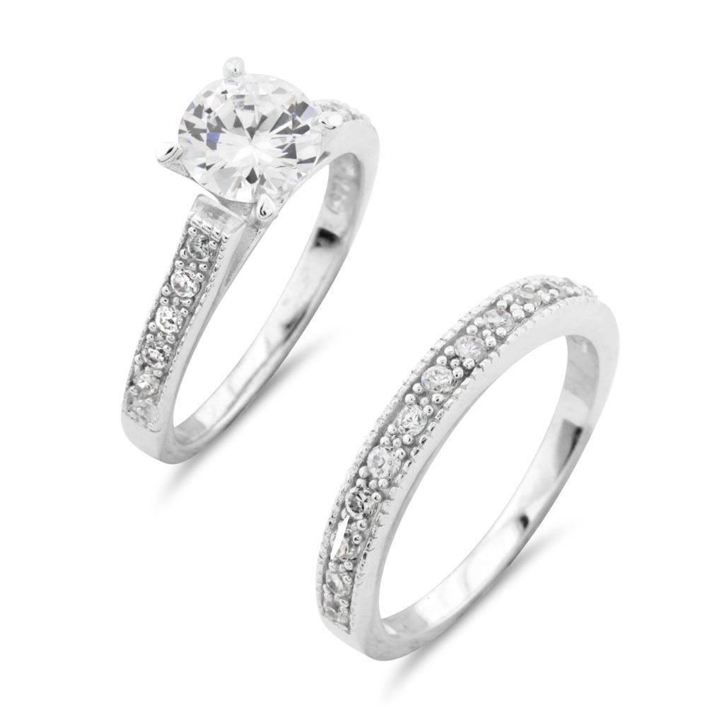 Beautiful Wedding Ring Set - www.sparklingjewellery.com