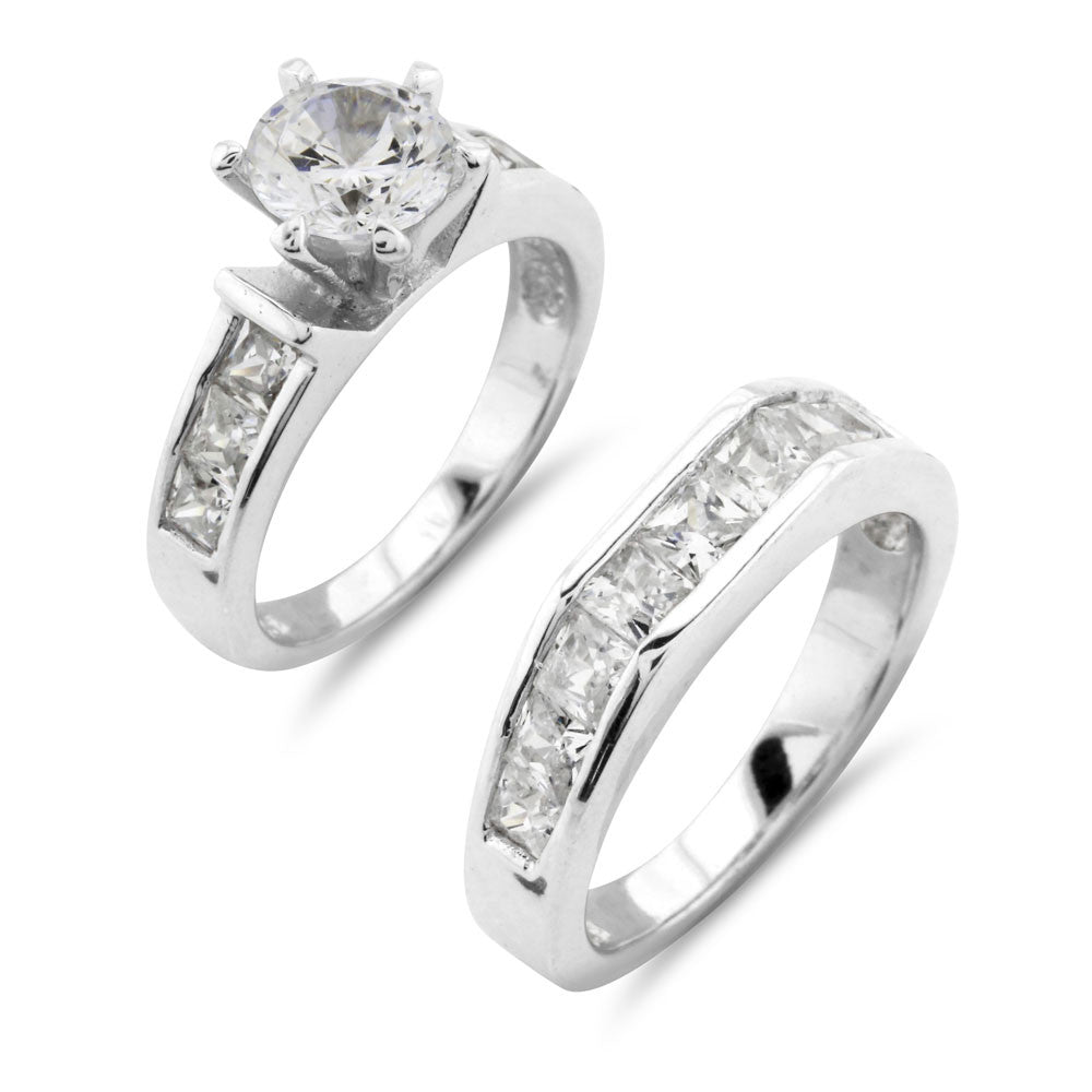 European Wedding Ring Set - www.sparklingjewellery.com