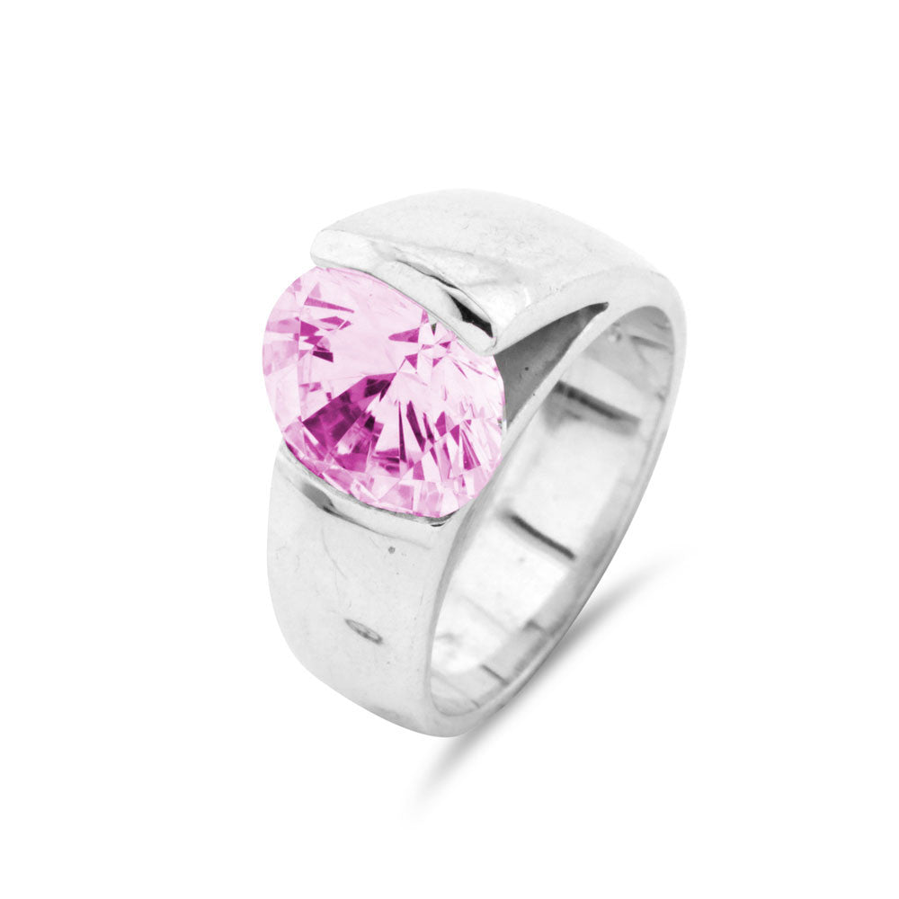 Pink Sapphire Contemporary Ring