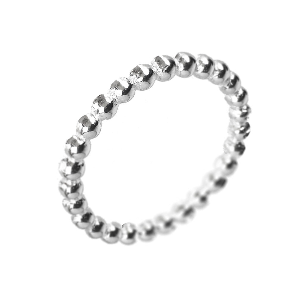 Silver Ball Layer Ring