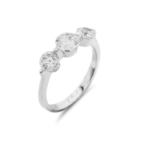 Contemporary Trilogy Ring - www.sparklingjewellery.com