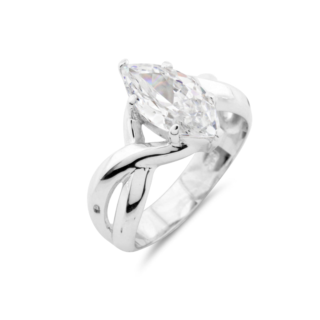 Marquise Solitaire Ring - www.sparklingjewellery.com