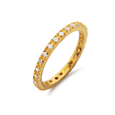 Gold Diamond Full Eternity Ring - www.sparklingjewellery.com
