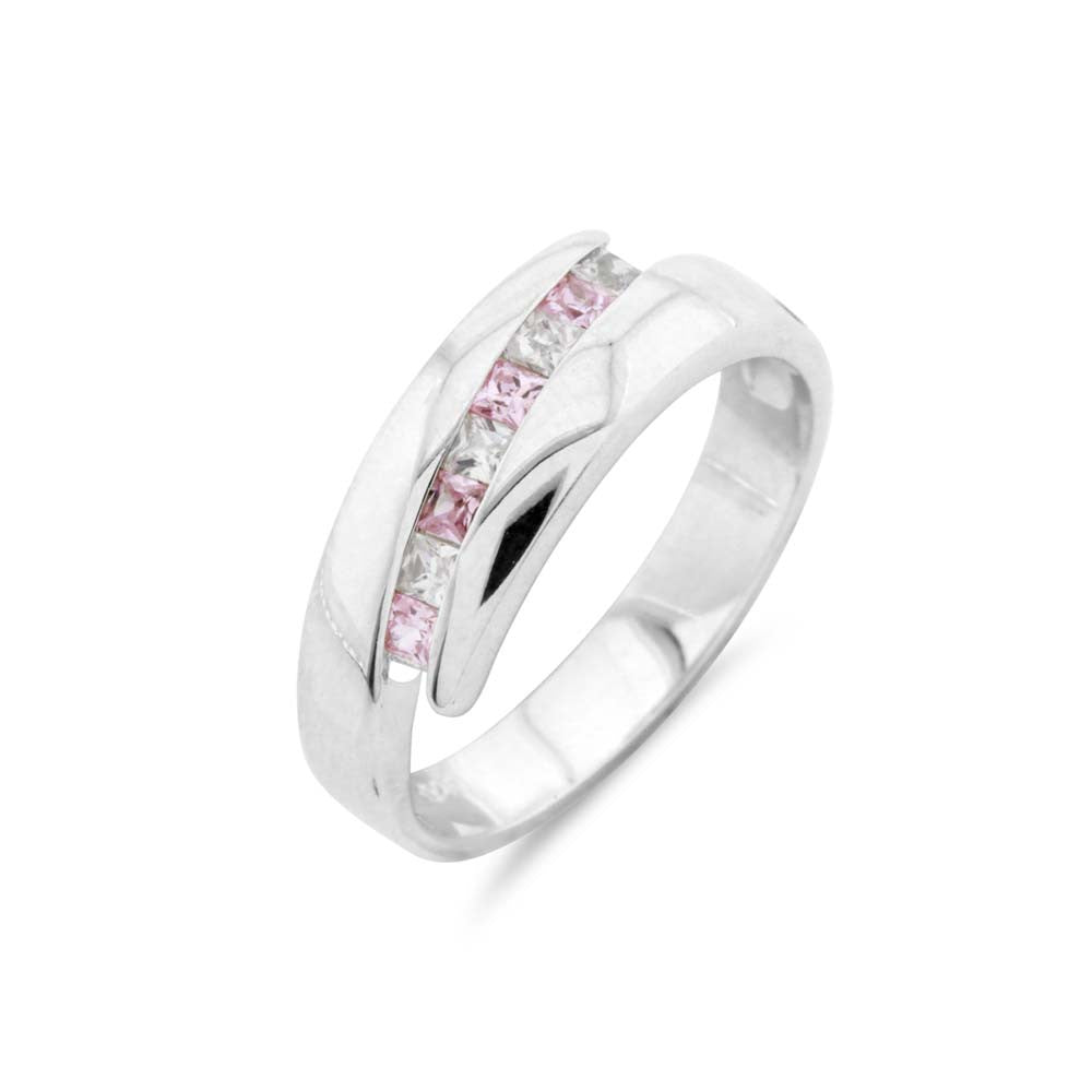 Pink Channel Set Wedding or Eternity ring  Ring