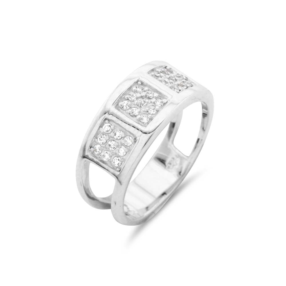 Silver Pave Modern Ring - www.sparklingjewellery.com