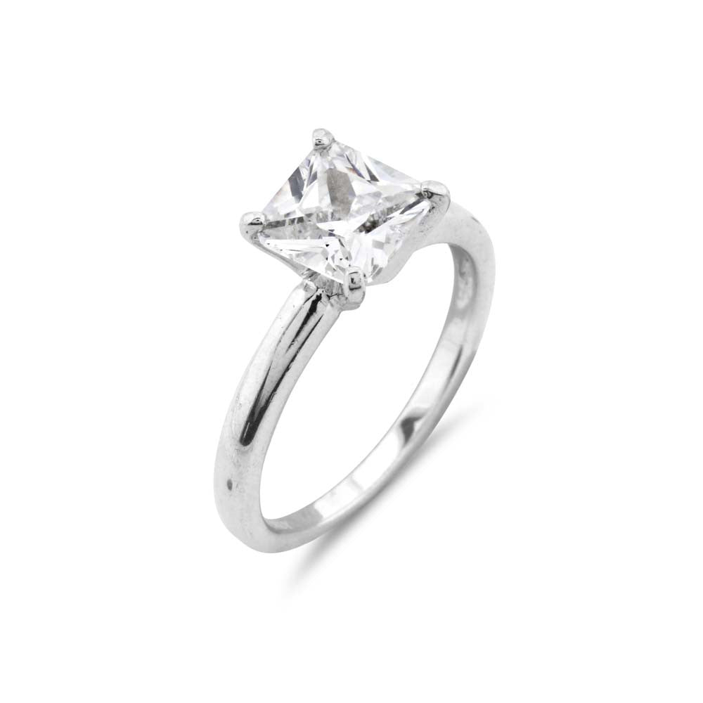 1ct Princess Cut Solitaire Simulated Diamond Engagement Ring - www.sparklingjewellery.com