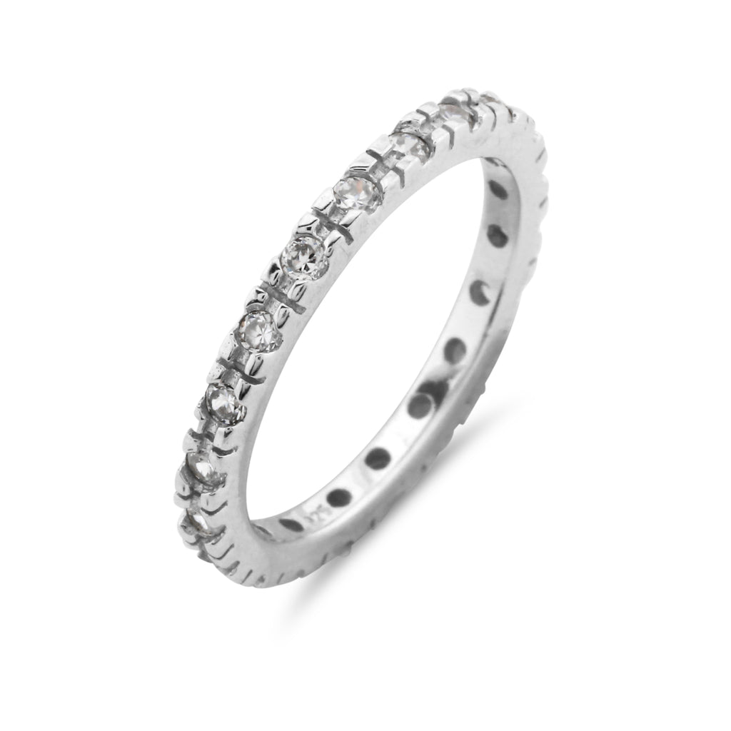 Full Eternity Ring Simulated Diamonds - www.sparklingjewellery.com