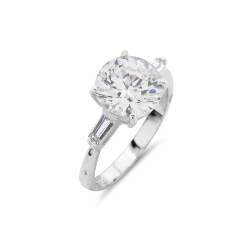 3Ct Engagement Ring Shoulder Ring - www.sparklingjewellery.com