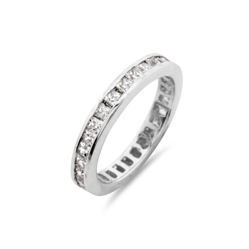 Princess Cut Channel Set Full Eternity Ring