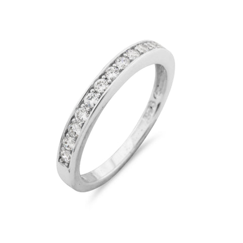 Half Hoop Simulated Diamond Eternity Ring - www.sparklingjewellery.com