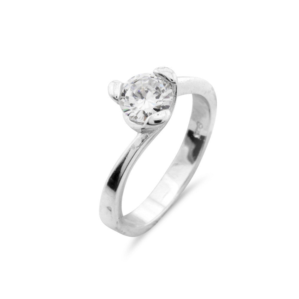 Contemporary Solitaire Ring - www.sparklingjewellery.com