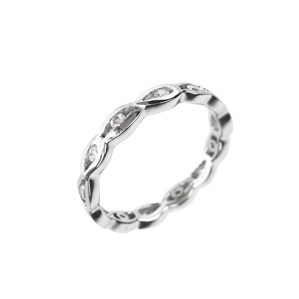 Infinity Eternity Ring 925 Silver