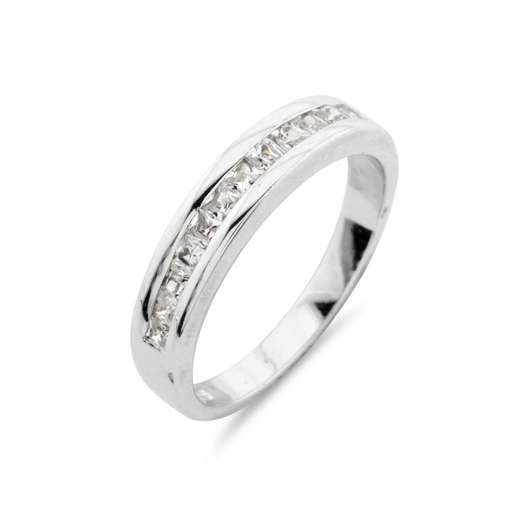 Channel Set Eternity Ring - www.sparklingjewellery.com