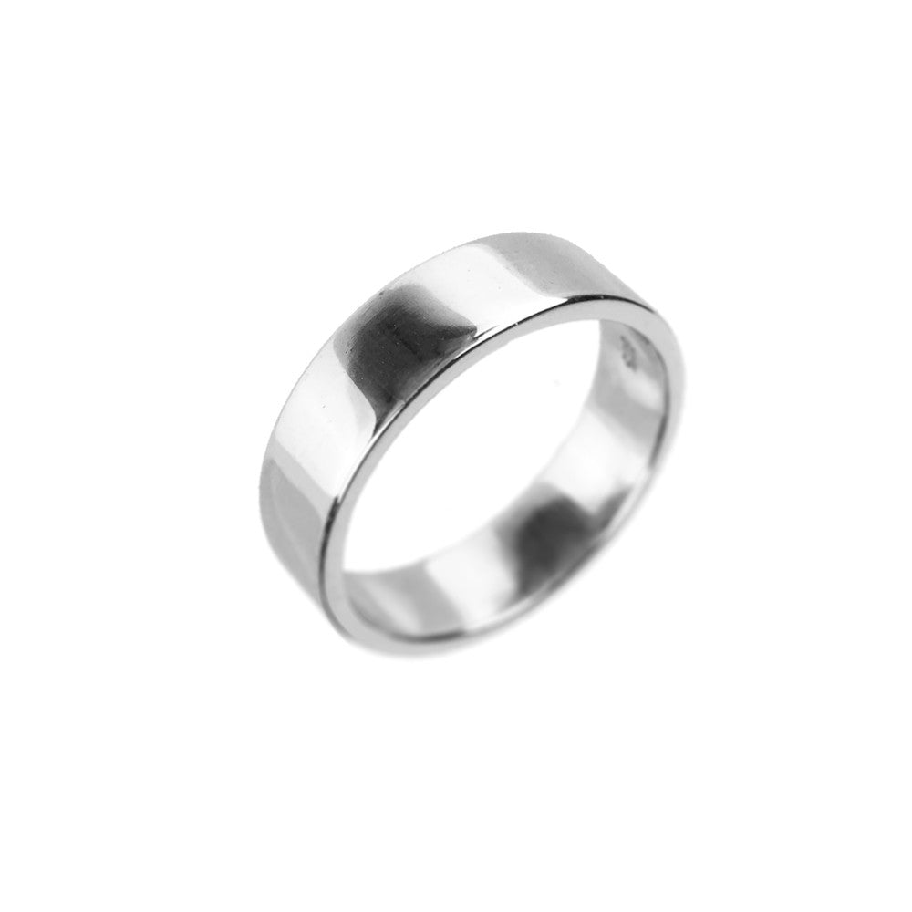 Sterling Silver Unisex Wedding Band Ring - www.sparklingjewellery.com