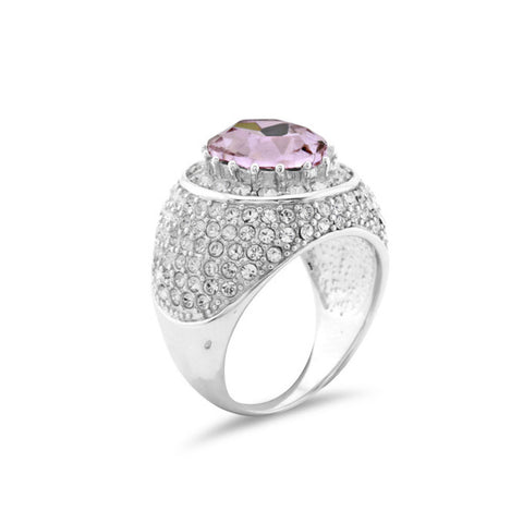 Rose Crystal and Silver Ring Steal Katie Price's look! - www.sparklingjewellery.com