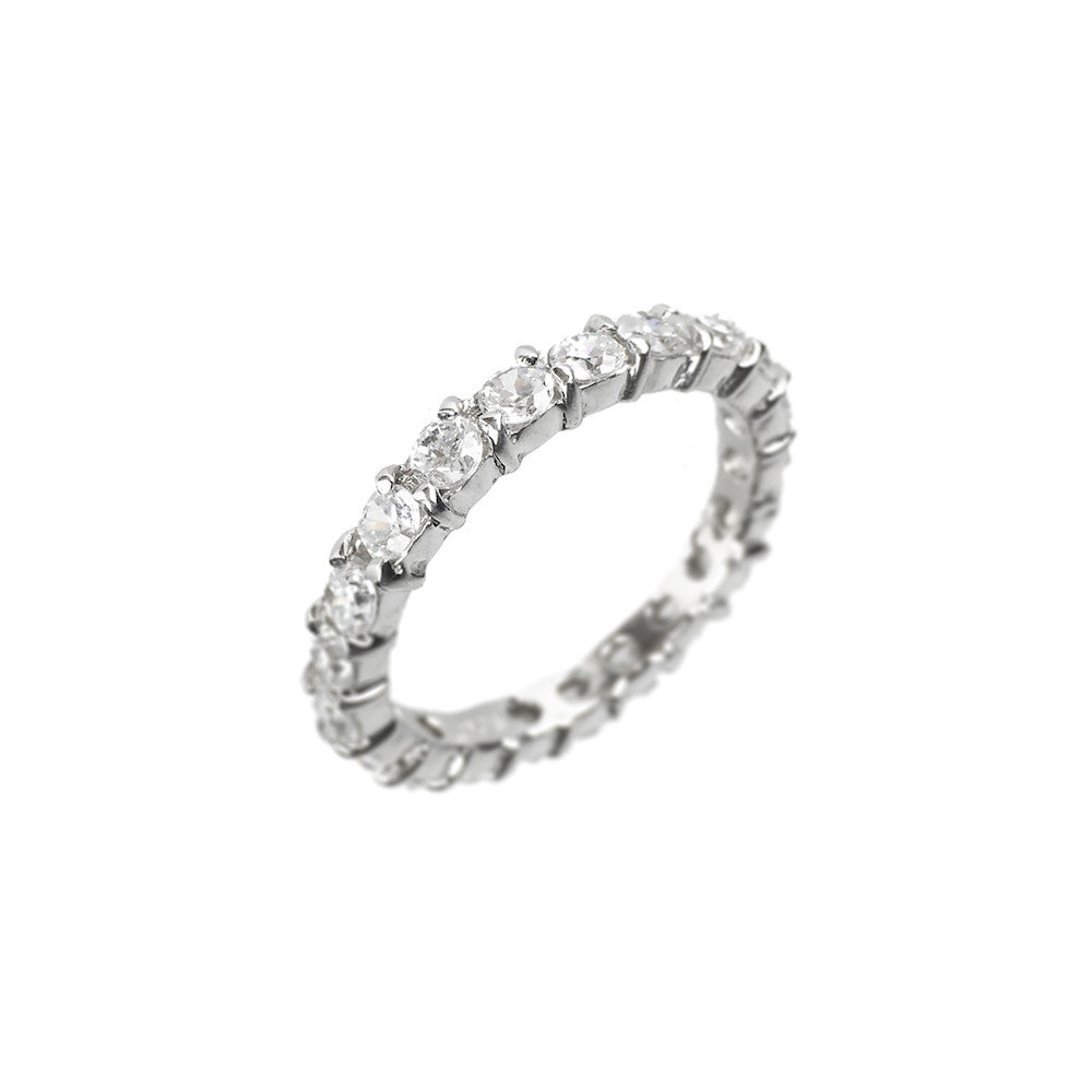 1ct Full Eternity Ring Sterling Silver - www.sparklingjewellery.com
