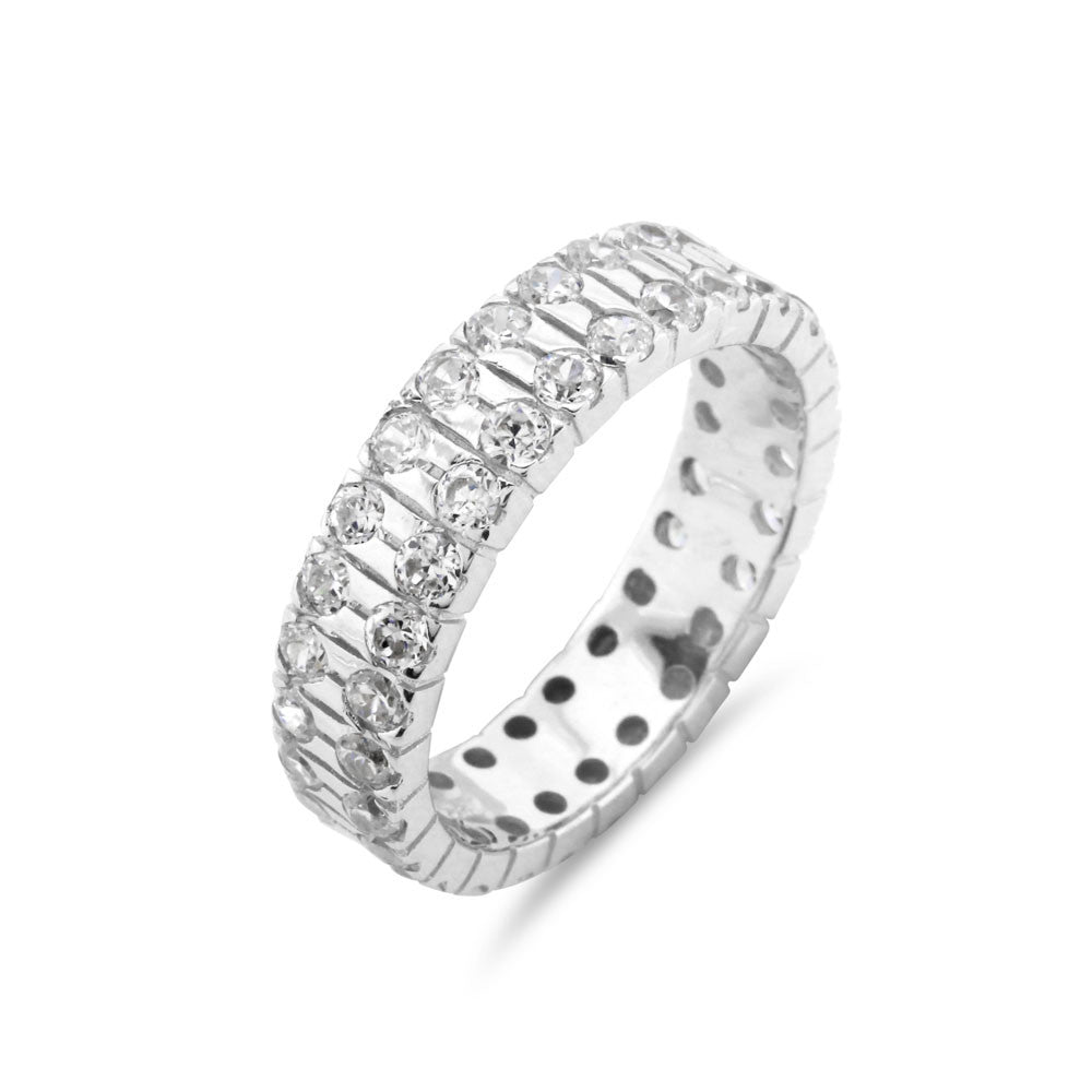 Double Row Wedding Ring - www.sparklingjewellery.com