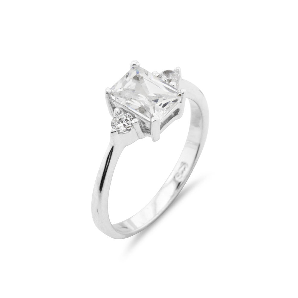 Emerald Cut Engagement Ring - www.sparklingjewellery.com