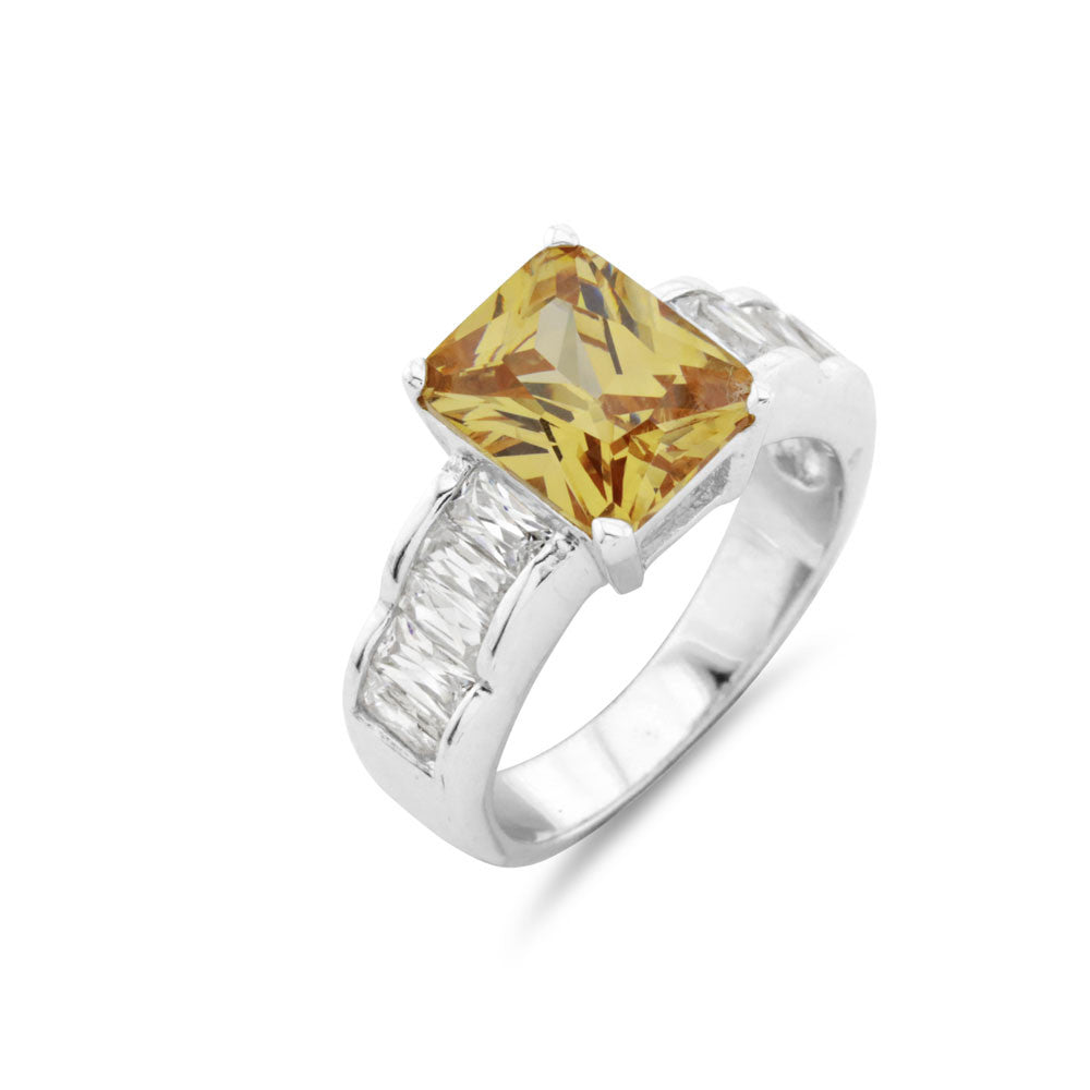 Canary Yellow Cocktail Ring - www.sparklingjewellery.com