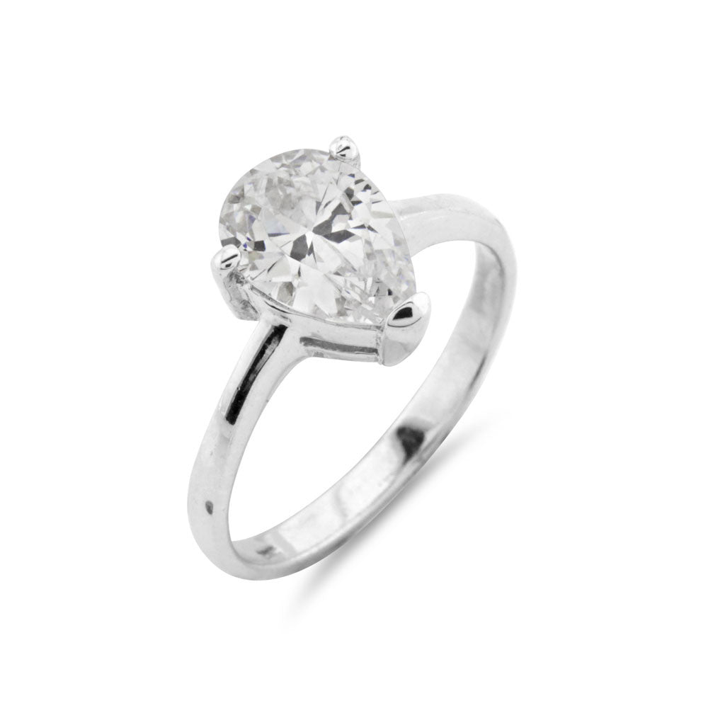 2ct Pear Cut Solitaire Engagement Ring